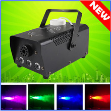 LED DJ Party Stage Light Smoke LED Fog Smoke Machine Remote RGB color Smoke ejector Thrower Wireless control AC 110V-230V 500W цена 2017