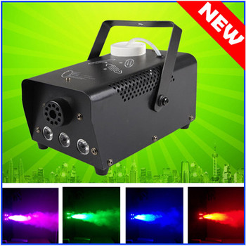 цены Mini LED RGB Wireless 500W Fog Smoke Mist Machine Effect Disco DJ Party Christmas with Remote Control LED fogger Atmosphere