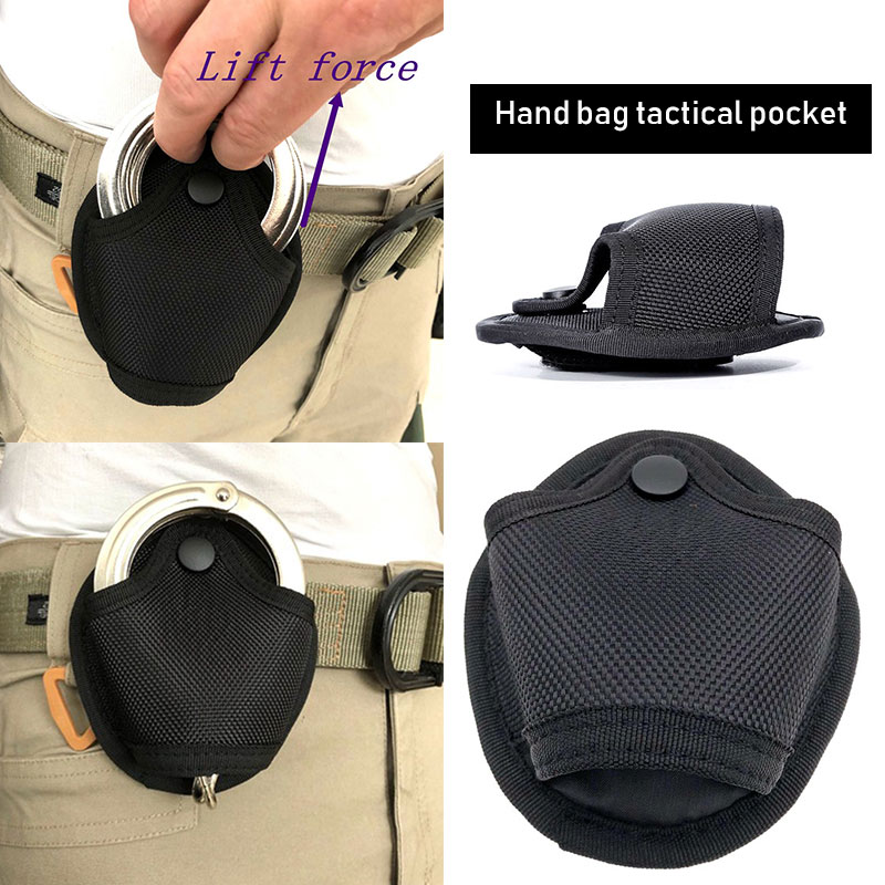 Handcuffs Protection Handcuffs Cover Counter-Terrorism Tool Handcuffs Bag Black Nylon Durable Bags