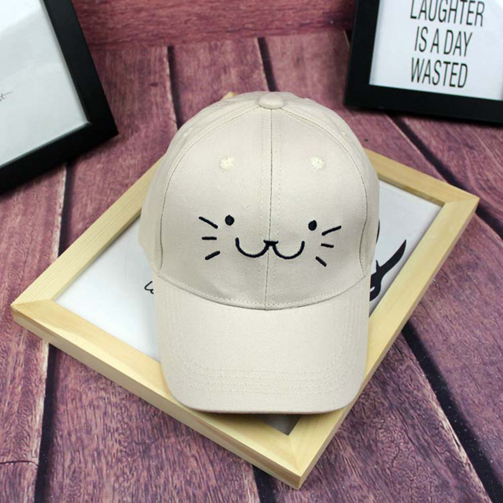 56c8b58ae8e Summer brand children net cap adjustable cute embroidered hat cat ears  snapback cap boy hip hop hat girl pearl cap Hot Selling -in Hats   Caps  from Mother ...