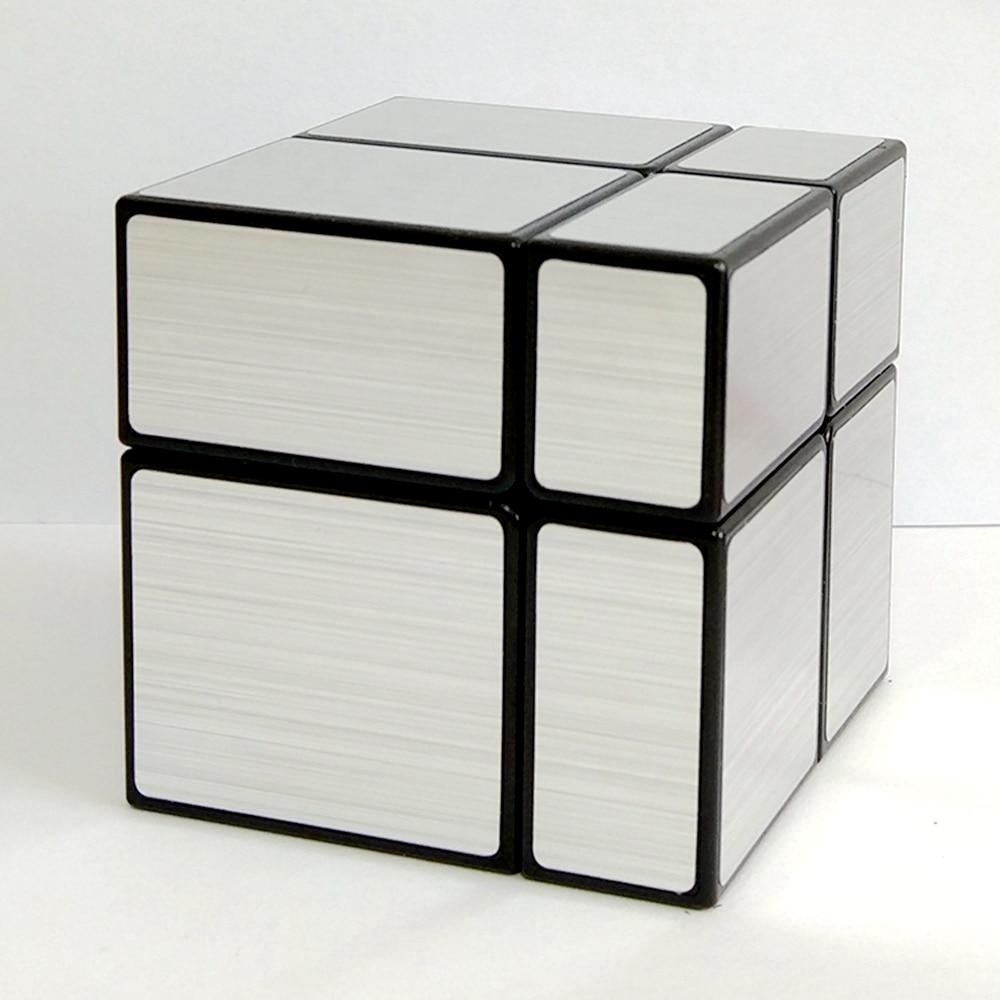 Shengshou 2x2x2 öntött bevonatú tükör mágikus kocka sebesség puzzle játék Kocka oktatási játékok gyerekeknek gyerekeknek - aranyos / arany