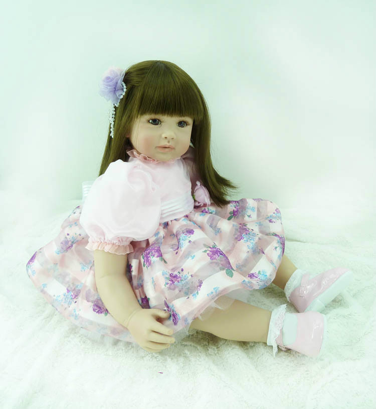 22 Inch Soft Silicone Vinyl Reborn Baby Girl Toys Educational Princess Baby Doll Fashion Lifelike Babyborn Dolls Gift nikon p900 s camera coolpix p900s digital cameras 83x zoom full hd video wi fi brand new