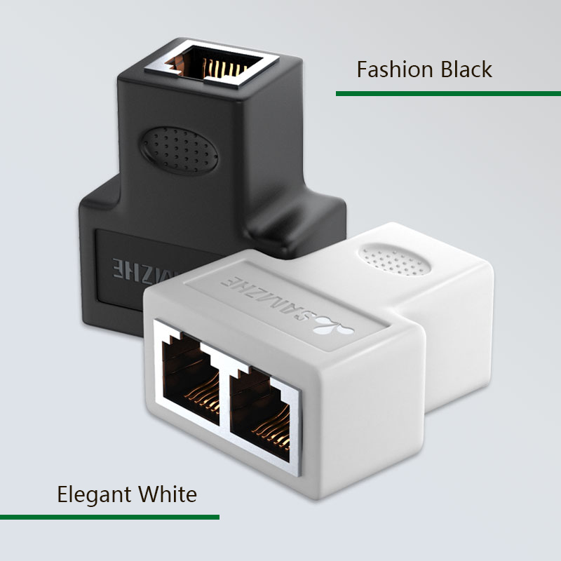 Image 4 - SAMZHE 1 To 2 Ways Ethernet Cable Adapter Lan Cable Extender Splitter for Internet Cable Connection 1 Input 2 Output-in Computer Cables & Connectors from Computer & Office