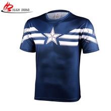Топ Мстители Фитнес рубашка 3D футболка Для мужчин Супермен Человек-паук Железный человек короткий рукав с Футболки мужской Кроссфит Футболка мужская