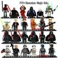 Sola Venta Minifigs R2D2 darth Vader de Star Wars Clone Trooper Boba Fett Leia Kylo Ren figuras Building Blocks Juguetes
