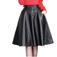 2016 Autumn And Winter New Big Skirt Korean Version Was Thin In The Long Women Pleated