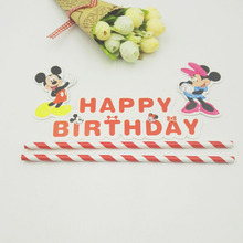 1set Mickey Mouse Theme Cupcake Cake Topper Baby Shower Birthday Party Supplies Cake Baking Party Decoration For Children