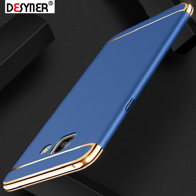 Desyner Phone case For Samsung galaxy A3 A5 A7 2016 2017 Case Luxury Plating Anti-Knock 3in1 hard Plastic Phone Protective Case