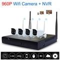 New 4CH 960 P HD Wifi KIT NVR Sistema de Câmera IP Sem Fio Kit NVR P2P sem fio WI-FI Ao Ar Livre IR Night Vision Segurança CCTV sistema