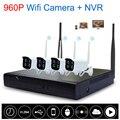 New 4CH 960P HD Wifi NVR KIT Wireless IP Camera System Wireless NVR Kit P2P Outdoor IR Night Vision Security WI-FI CCTV System