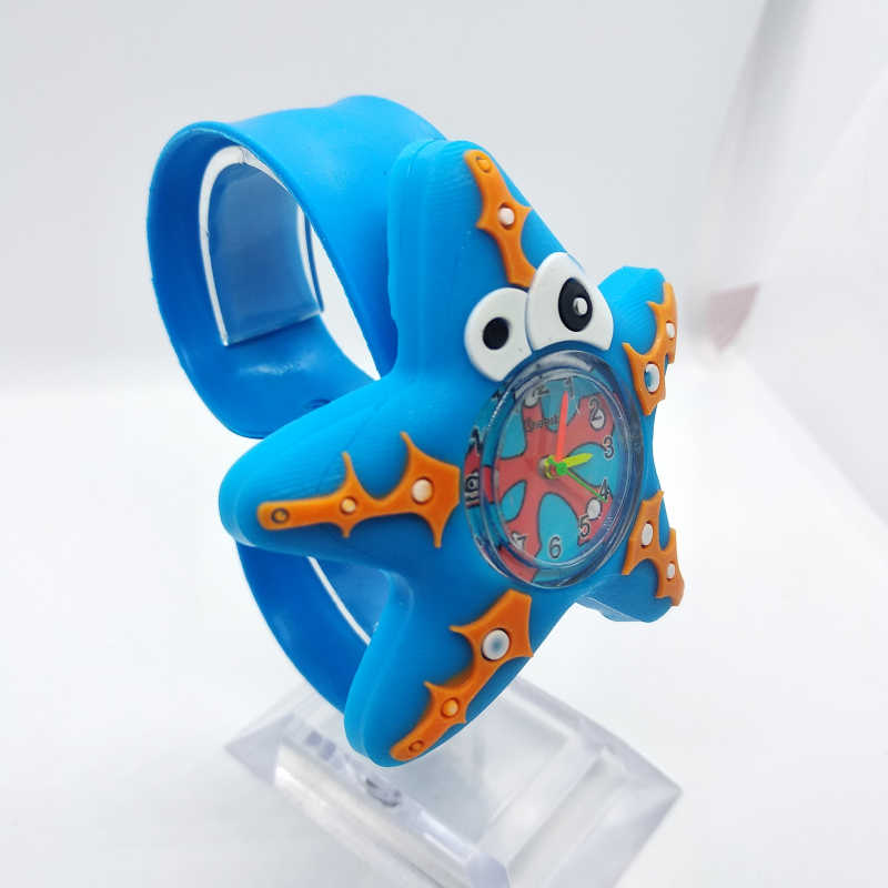 Đại Dương Sao Biển Đồng Hồ Trẻ Em 3D năm cánh Anime hoa văn Cho Bé Đồ Chơi Trẻ Em cho bé Gái Bé Trai đồng hồ Thạch Anh đồng hồ nữ