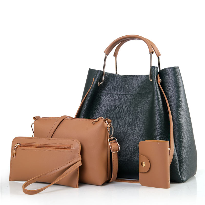 2018 Fashion 4pcs/set Women's Handbag PU Leather Women Bag Female Tote Bags Ladies Messenger Bag Purse Composite Shoulder Bag women bag set top handle big capacity female tassel handbag fashion shoulder bag purse ladies pu leather crossbody bag