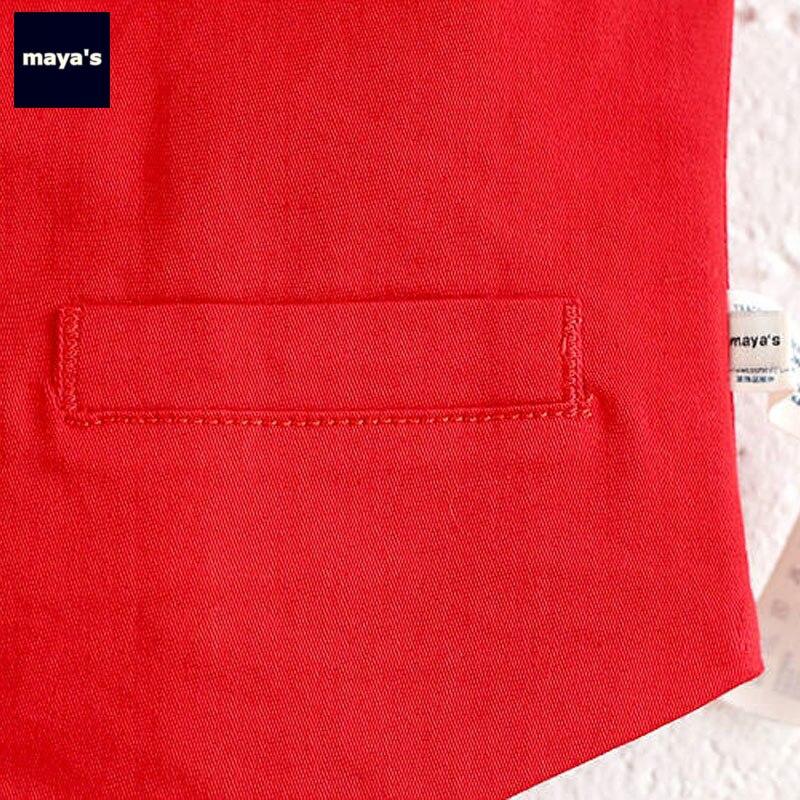 Mayas Red Solid Color Plaid Sleeveless Kids Vest Soft Breathable Children V Neck Waiscoats Toddler Spring Basic Tops 82051