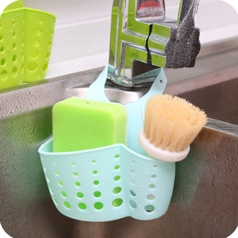 Kitchen Sink Sponge Holder, Bathroom Hanging Strainer Organizer Bag, Storage Box Rack, Box for Storage, Organizer Silicon Bag