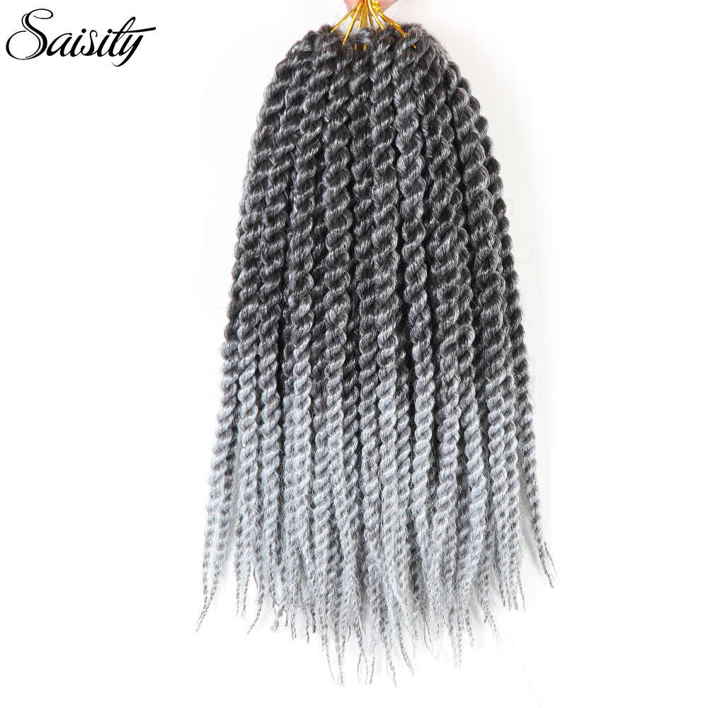 Saisity crochet hair extensions Havana mambo twist curly crochet hair xpressions braiding hair crochet braids synthetic ombre