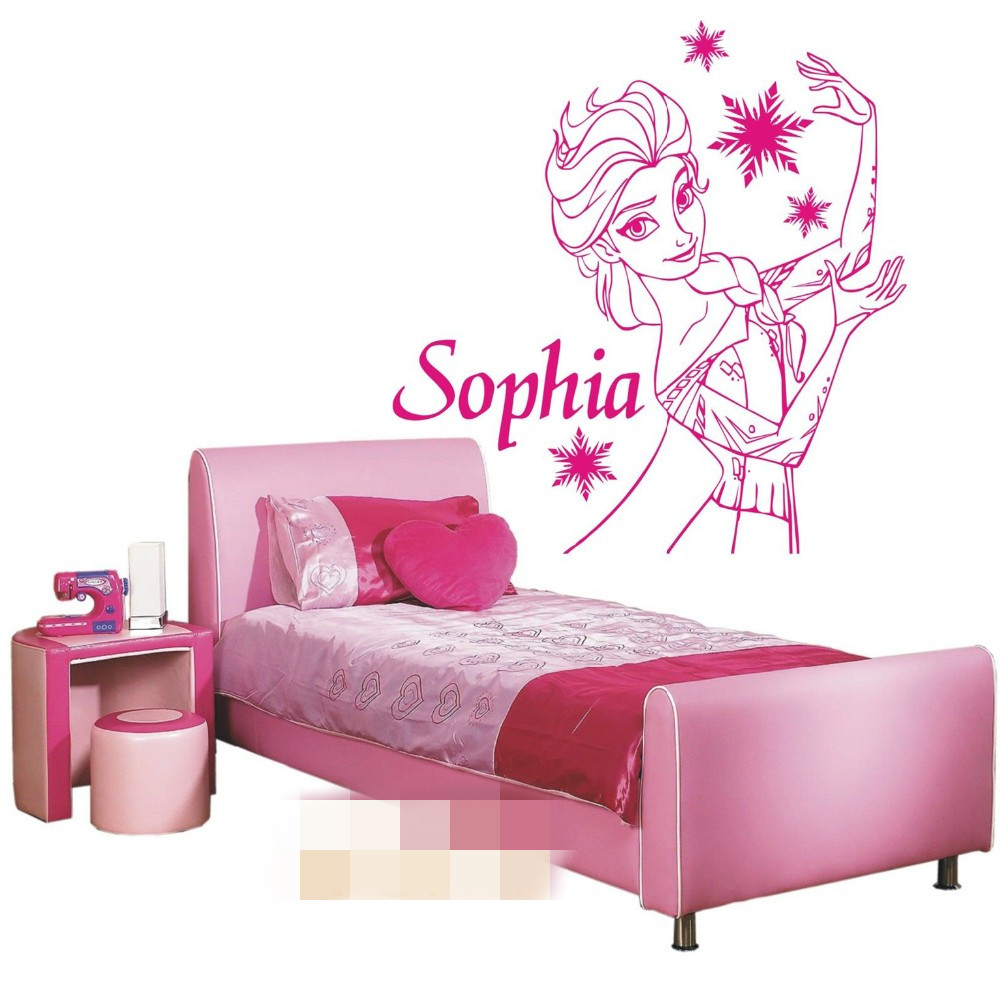 princess wall stencils promotion shop for promotional princess free shipping princess elsa girl personalised name vinyl wall decal art decor sticker kids bedroom window door stencil mural