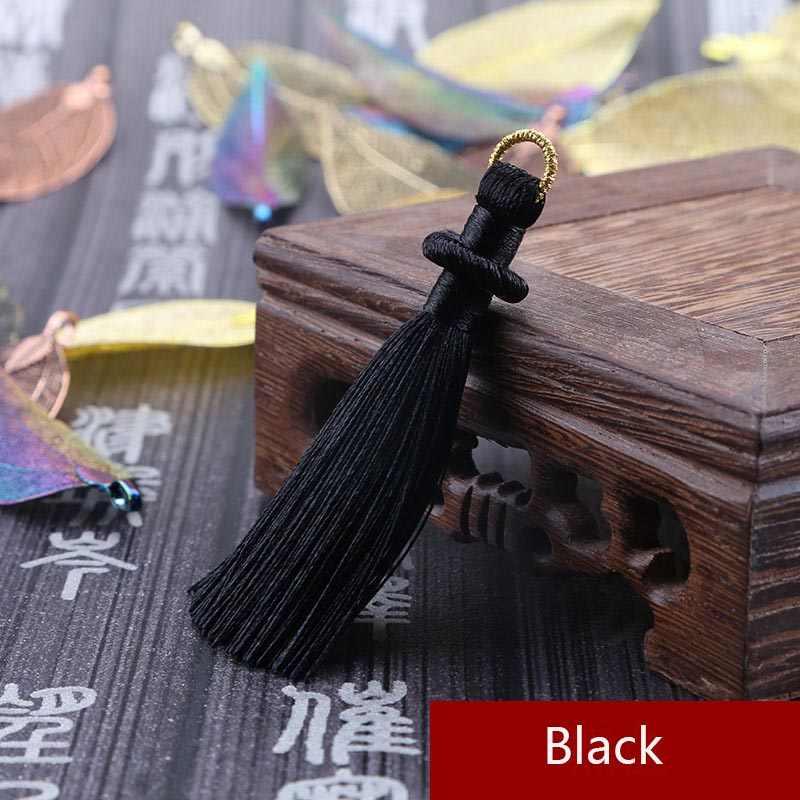 Mibrow 5 sztuk/partia 8cm długi Multicolor bawełna jedwabiu Tassel sznury dla kolczyki urok wisiorek Satin Tassel biżuteria dokonywanie ustalenia