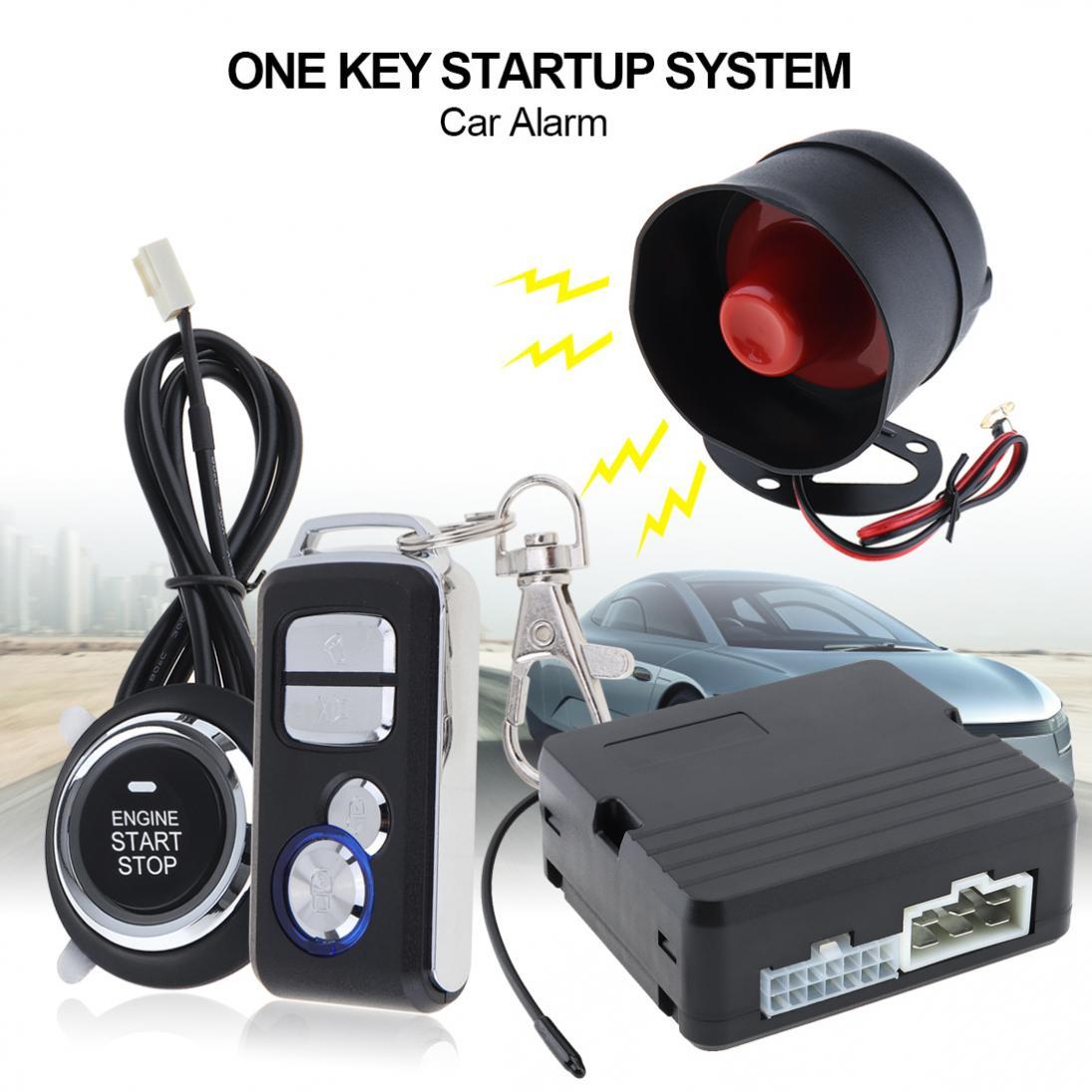 Universel 433 MHz 12 V système d'alarme de voiture démarrage à distance arrêt système de moteur avec verrouillage Central automatique et télécommande sans clé