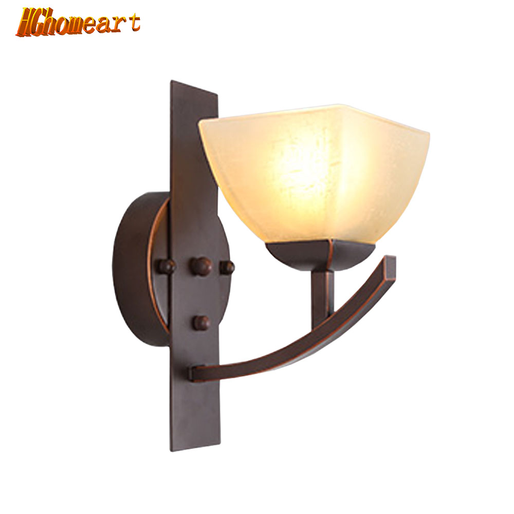 hghomeart led wall indoor lamps e27 retro sconce iron bed loft lights luminaire vintage bathroom. Black Bedroom Furniture Sets. Home Design Ideas
