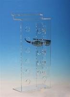 Slatwall Clair Acrylique lunettes de Soleil Rack Support D'affichage Lunettes Stand Détient 6 Paires Lunettes Bijoux Plateau