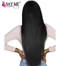 Say Me Brazilian Virgin Hair Straight Weave Bundles Nature Color Unprocessed 100% Human Hair Extension Cheveux Bresilienne Meche