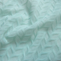 New French 3D Wheatear Smooth Stretch Lace Fabric Fashion Spandex Knitted Apparel Fabrics For Lingerie Hand