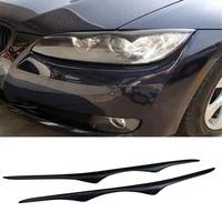 E92 E93 M3 Universal Carbon Fiber Car Style Headlight Eyebrows Cover trim sticker for BMW 2006 2013