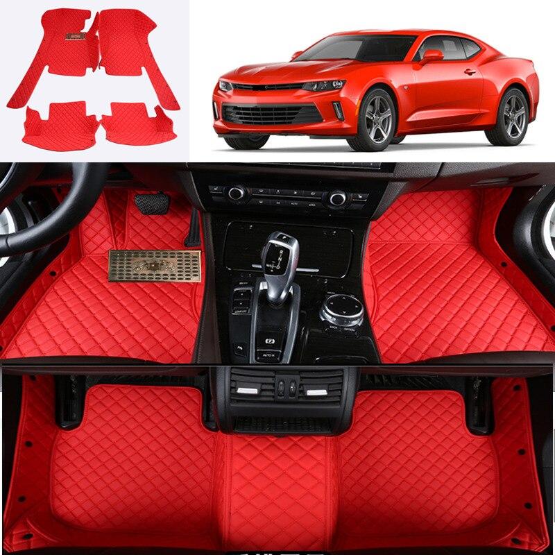 For Chevrolet Camaro 2017 2018 Accessories Interior Car Floor Mats Carpets Pad 1SET