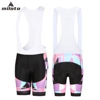 Pink Women's Cycling Bib Shorts 2018 Miloto Bicycle Mountain Bike Bibs Gel Padded Lady Cycle Shorts Bib Breathable Short Tights