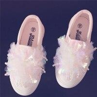 Perles Dentelle 2017 Automne Nouvelles Filles Toile Chaussures Fille Coréenne Bébé Princesse Chaussures Enfants Chaussures En Tissu Pour Enfants