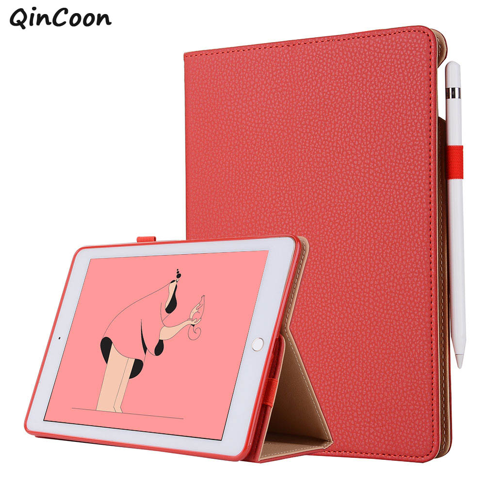 Snow Business Smart Case for iPad pro 12.9 2017 2015 PU Leather Folding Stand + Hand Strap + Pencil Holder + Card Cover Funda stylish folding pu leather business
