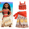 Película moana christmas party dress princess dress cosplay traje de falda de las mujeres