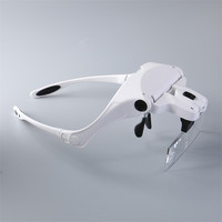 1PCS Magnifier Glasses Eyelash Extension LED Light Magnifying Glasses Hand 5 Lenses Magnifier Spectacles 1x 1