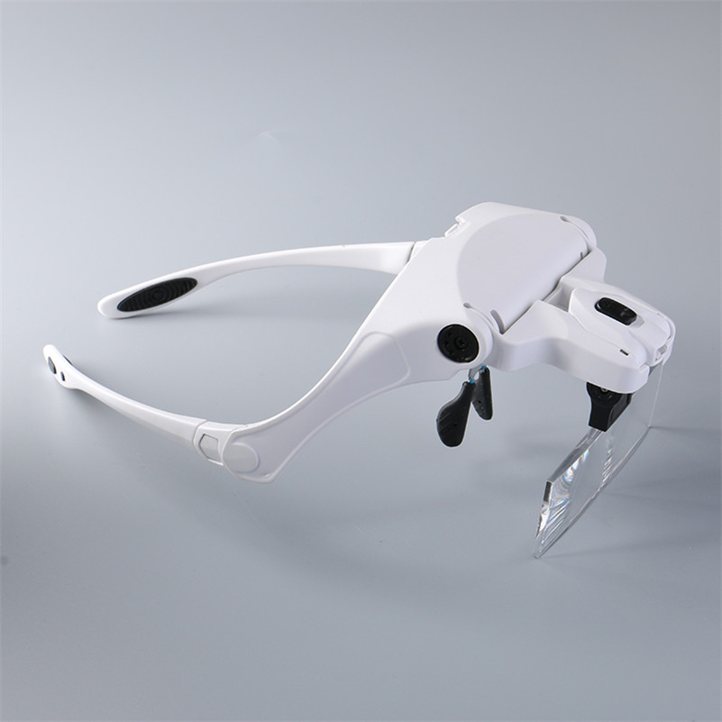 цены 1PCS Magnifier Glasses Eyelash Extension LED Light Magnifying Glasses Hand 5 Lenses Magnifier Spectacles(1x,1.5x,2x, 2.5x, 3.5x)