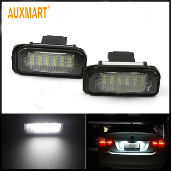 Lámparas Auxmart 2 uds 12V luz LED de matrícula para Mercedes Benz W203 W211, accesorios exteriores para coche, calidad de las luces de matrícula