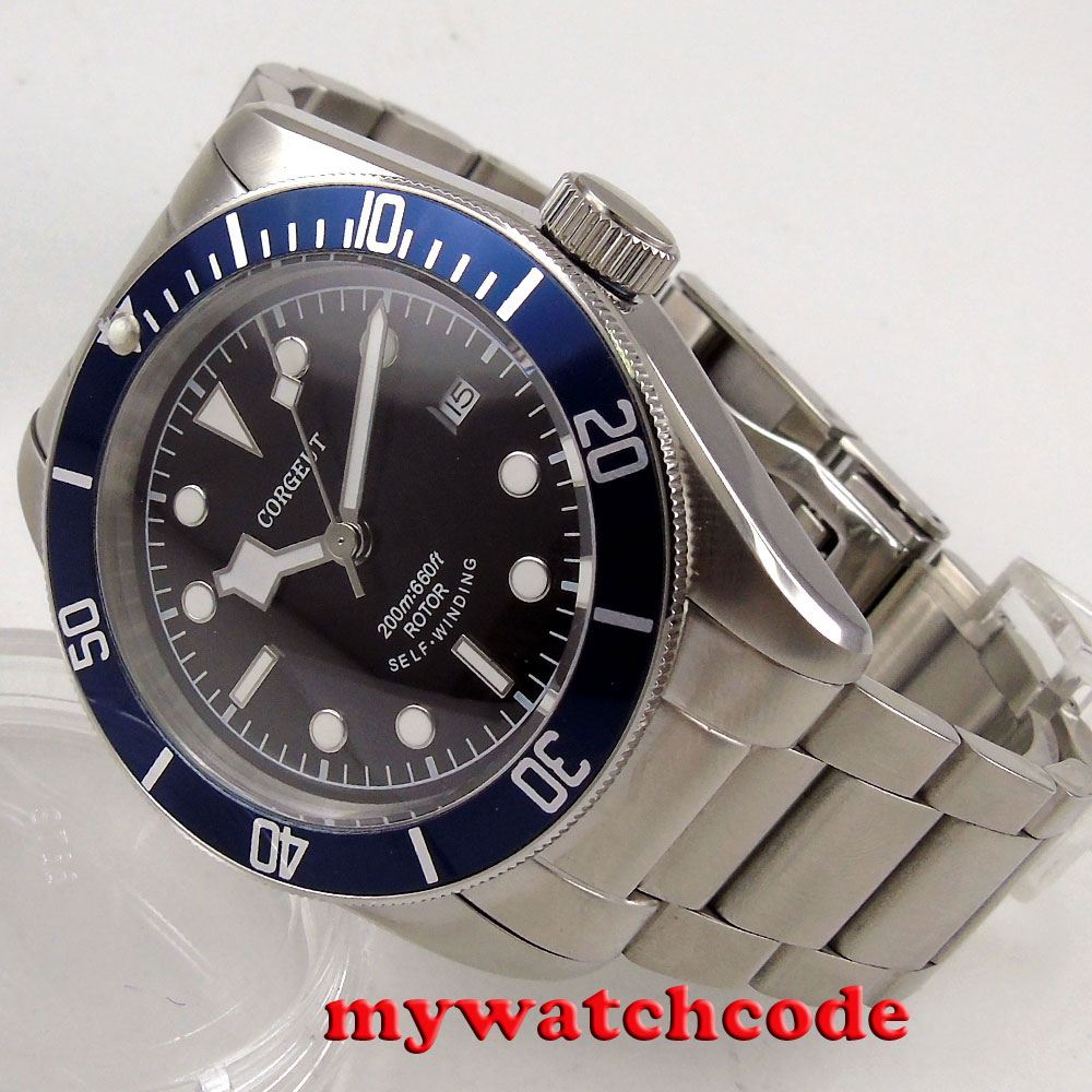 41mm corgeut dial stainless steel strap Sapphire Glass automatic mens Watch C9241mm corgeut dial stainless steel strap Sapphire Glass automatic mens Watch C92