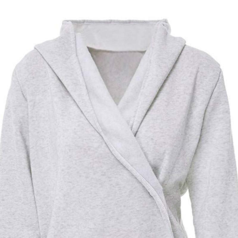 49 stuk Vrouwen Tops Klaring Lange Knop Cowl Kleur Sweatshirt Jassen Drie Kwart Katoen Casual Drie Kwart Casual-in T-shirts van Dames Kleding op  Groep 1