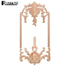 Dongyang Wood Carving Applique Ornaments Corner Pieces European Background Wall Cupboard Door Decoration Style