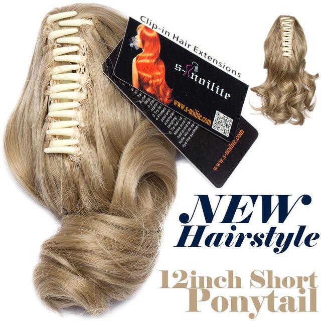 Synthetic Short Wavy Pony tail Claw.