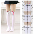 2016 Kids Cute Pantyhose tight for girls Lovely hello Bunny Kitty Velvet Stockings Cartoon Patchwork Kids tight leg girls tights