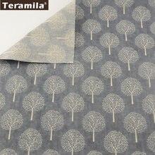 Árvores de inverno tecido de linho material tissu toalha de mesa travesseiro saco cortina teramila casa têxtil coxim zakka algodão