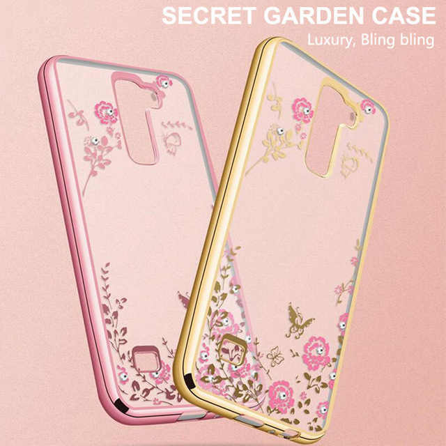 the latest 84e5a ec854 Soft silicone clear Cell Phone Case For LG G3 G4 G5 G6 K10 G 3 4 5 Back  Cover Ultra thin Rose flowers shine Luxury Casing