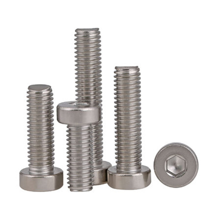 10pcs <font><b>M5</b></font> 304 stainless steel Thin heads socket cap head screws Short sides screw bolts 8mm-<font><b>40mm</b></font> Length image