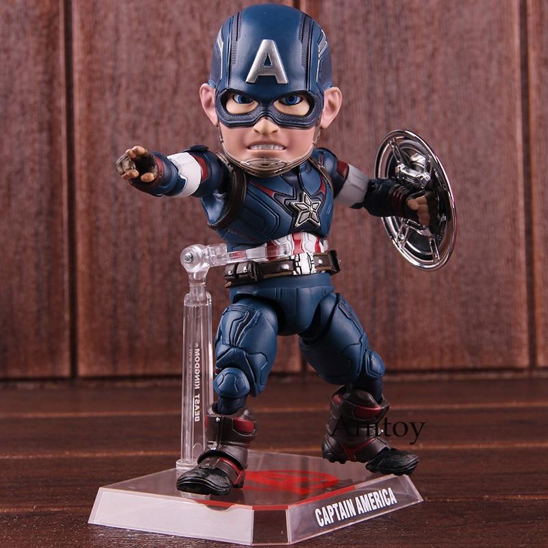 Marvel Avengers oeuf attaque Action Captain America EAA-011 6 pouces figurine bête royaume PVC modèle jouet