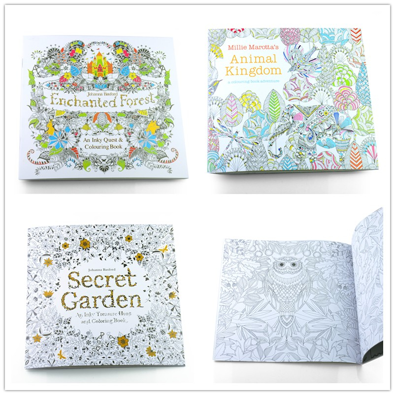 3PCS 24pages 19X19cm Secret Garden .Fantasy Dream .Enchanted Forest ...