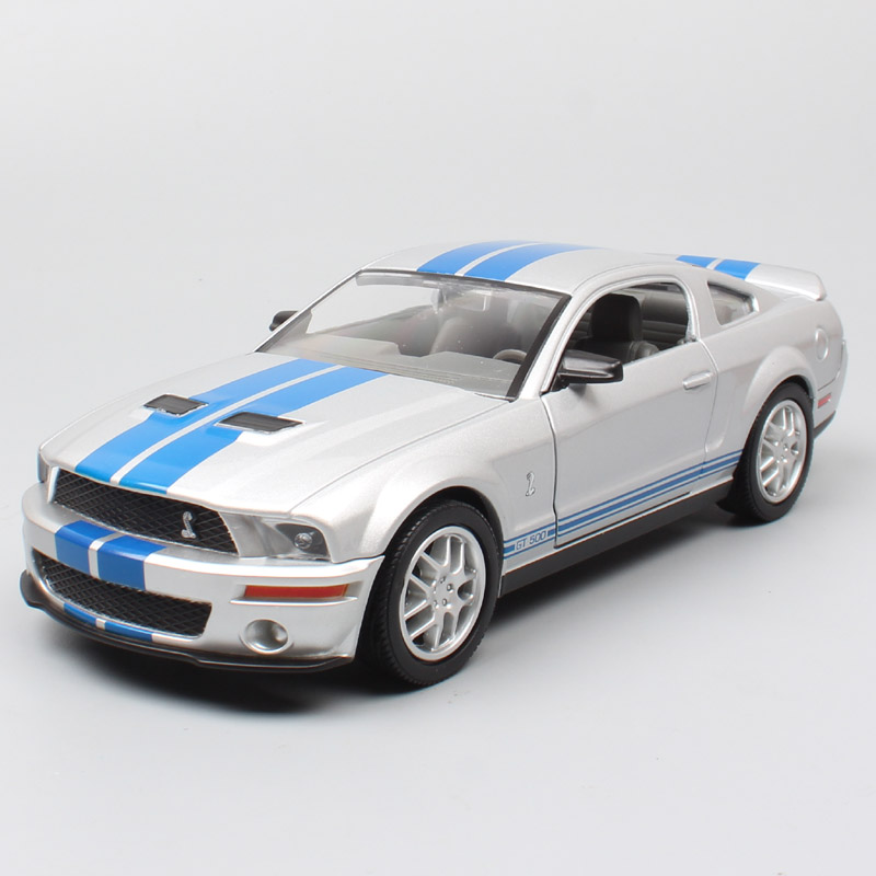 Road Signature 1:24 Scales Muscle cars ford MUSTANG Shelby GT 500 2007 racing car 2007 metal diecast vehicles & models toy hobby image