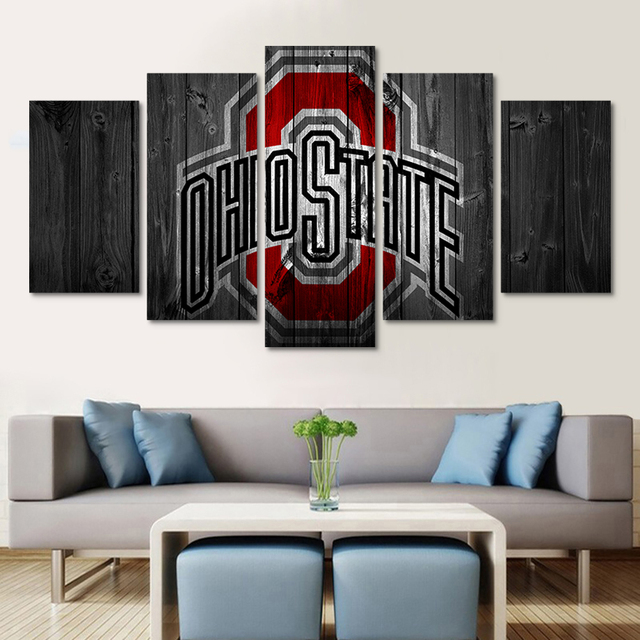Yphyhd Wall Art Modern Painting Ohio State Logo Canvas Painting