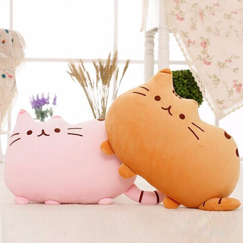 40*30cm Lovely Soft Plush Stuffed Animal Doll  Anime Toy Pusheen cat pillow for Girl Kid Cute Cushion brinquedos  lovely sing dance dog toy pusheen cotton soft plush hold doll antistress for children baby