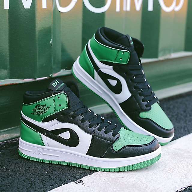 New Big Size 11 High Top Yellow Sneakers Nice Air Force 1 Green Blue