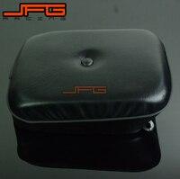 Motorcycle Black Passenger Rear Leather Seat Cushion For Honda CMX250 CMX 250 Rebel CA250